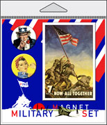 Military Pin and Magnet Packaged Set