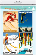 Ski 4-Pack Magnet Set